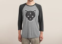 Check out the design Gato Negro: Guys Triblend Tee by Jillian Fisher available on Triblend Sleeve Raglan Tee on Threadless Pizza And Beer, Graphic Tees, Graphic Sweatshirt, To Kill A Mockingbird, Tank Shirt, Raglan Tee, Shirt Designs, Mens Fashion, Sweatshirts