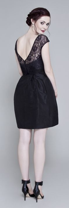 Please support our #BritishLBD collection on #Kickstarter! We have just 12 days left to reach our funding target!  Lolly is our cheeky little silk taffeta party frock. Shown here with a little lace jacket.  Pledge your support for British craftsmanship here kck.st/1A9OwcC  #MadeinBritain #London #Fashion #Style #LBD #LittleBlackDress #Handmade