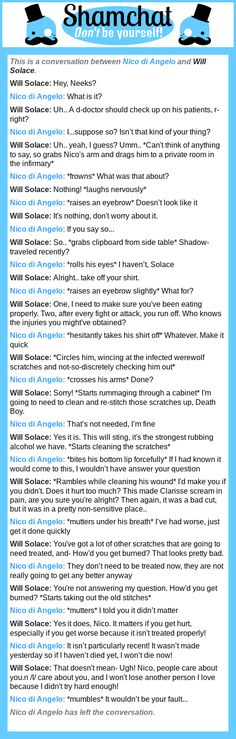 A conversation between Will Solace and Nico di Angelo