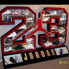 Michael Jordan shoe display!