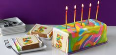 Celebrate a special occasion or birthday with a tie-dye surprise cake. Cut into the brightly colored fondant covered cake to reveal the surprise. It looks Cake Pops, Cinnamon Apple Rings, Inside Cake, Surprise Cake, Cake Cover, Colorful Cakes, So Creative, Creative Cakes, Cake Tutorial