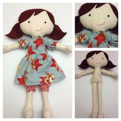 """Juniper  - Handmade Fabric Doll 16"""""""