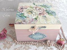 МО� ТВОРЧЕСТВО 8 Decoupage Box, Decoupage Vintage, Vintage Crafts, Vintage Wood, Wood Crafts, Diy And Crafts, Arts And Crafts, Tea Box, Altered Boxes
