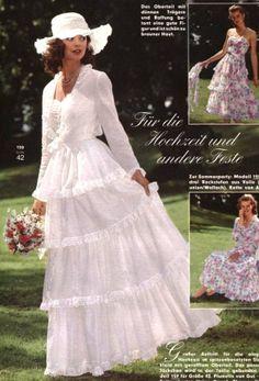 So Feminine ❤️ Vintage Style Wedding Dresses, Vintage Bridal, Wedding Styles, Bridal Dresses, Vintage Outfits, Vintage Fashion, Vintage Weddings, Vintage Beauty, Laura Ashley Wedding Dress
