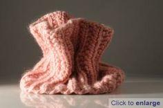 Mistake rib snood using Mrs Moon Plump  yarn