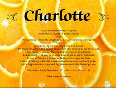 Charlotte name meaning