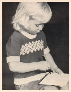 PDF Vintage Baby Girl 'DIAMOND' Jumper Knitting Knit Crochet, Jumper, Pdf, Knitting, Trending Outfits, Diamond, Handmade Gifts, Unique, Baby