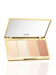 Highlighting & strobing palette with four new shades to illuminate all skin tones. Includes four shades: daylight (white gold) skylight (pearl) spotlight (champagne) candlelight (rose gold)