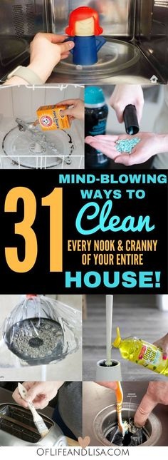 House Cleaning Tips and Tricks That Will Blow Your Mind Clean every nook and cranny of your house with these amazing house cleaning tips and tricks.Clean every nook and cranny of your house with these amazing house cleaning tips and tricks. Deep Cleaning Tips, House Cleaning Tips, Natural Cleaning Products, Cleaning Hacks, Diy Hacks, Clean House Tips, Spring Cleaning Tips, Cleaning Schedules, Cleaning Recipes