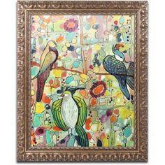 Trademark Fine Art Assemble Canvas Art by Sylvie Demers, Gold Ornate Frame, Size: 16 x 20