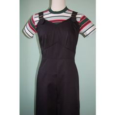 1940s 40s vintage style black cotton twill overalls custom made