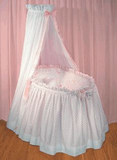 The Blauen Jolie Hearts bassinet ensemble will create a canopy over little hearts . This lovely, canopied Jolie Bassinet Ensemble is created from our sweet cotton Jolie pique and embellished with our Lullaby eyelet, hand strung with pink Baby Crib Bumpers, Baby Crib Bedding, Baby Bassinet, Baby Cribs, Dream Baby, Baby Love, Baby Doll Bed, Kate Baby, Kit Bebe