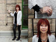blouse, sweater, earrings, necklace, and bracelets from Twigs. http;//www.twigs.ca Twigs Lookbook