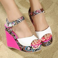 High Heel ankle strap pink shoes
