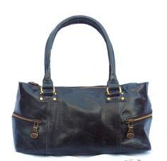 Shoulder Leather Bag  Leather Bag  Brass Hardware  by MiloBorja