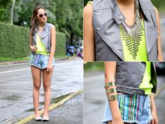 """Neon Punk Girl (BMS)"" by Laureen Uy // LOOKBOOK.nu"
