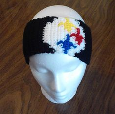 This pattern has written out instructions as well as a chart to follow. This is a pattern I came up with after a customer asked if I could make her an ear warmer for the Pittsburgh Steelers.