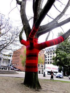 Seattle - yarn bombing
