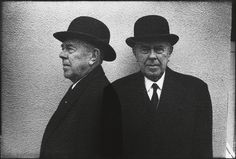 René Magritte, 1965 -by Duane Michals    fromswanngalleries