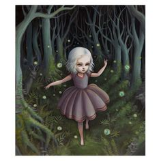 Harlow And The Faerie Ring   Gouache and Acrylic on Board- Sold   ©Mab Graves 2010