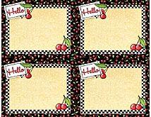 Cherries Nametags - Mary Engelbreit    $3.49