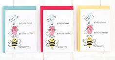 Cute Valentines. For more please visit http://limedoodledesign.com/2015/01/cute-fingerprint-animals/ Debby Hughes - Lime Doodle Design #cute #valentine #card
