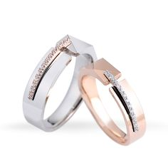 Matching Wedding Rings Rose Gold lot Jewellery India against Cheap Matching Promise Rings For Him And Her. Diamond Rings, Diamond Jewelry, Jewelry Rings, Jewelery, Engagement Rings Couple, Couple Rings, Matching Wedding Rings, Wedding Band Sets, Unique Rings