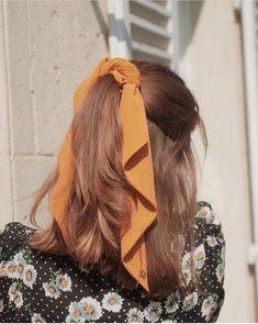 Hair Scarf Styles, Curly Hair Styles, Scarf Hairstyles, Cute Hairstyles, Bandana Hairstyles Short, Kawaii Hairstyles, Silk Hair, Aesthetic Hair, Dream Hair