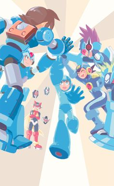 Mega Man I Like These Were Are The Different Versions Unite