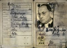 """Inside of a Compulsory Identification Card for Jews, Issued in Berlin (1939) .Jews whose names failed to appear on the government-approved list had to adopt either """"Israel"""" or """"Sara"""" as additional forenames. This decree also took effect on January 1, 1939. Below is a reproduction of the inside pages of a compulsory identification card for Jews. Ww2 History, World History, Corrie Ten Boom, January 1, Interesting History, Persecution, Horror Art, World War Two, Human Body"""
