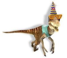Second Life Birthday Raptor Avatar Limited Time Gift by Shopkeeper Linden's Store - Teleport Hub Gift Of Time, 12th Birthday, Second Life, Virtual World, Avatar, Dinosaur Stuffed Animal, Lion Sculpture, Statue, Gifts