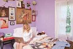 blogger fallon elizabeth and her yorkie