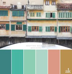 A shutter-inspired color palette