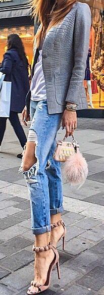 Jacket. Purse. Heels. Loving. @fashion_base