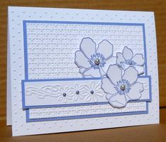 Noofy by susanbri - Cards and Paper Crafts at Splitcoaststampers Scrapbooks, Flower Cards, Flower Stamp, Birthday Cards For Women, Embossed Cards, Card Patterns, Baby Kind, Card Sketches, Sympathy Cards