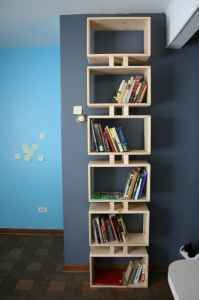 DIY unique modern bookshelf