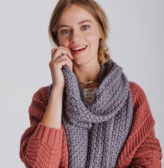26df1ec7730a Echarpe femme maille chaude gaufrée - Foulards, étoles, chèches - Phildar