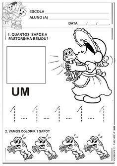 Atividades Contos de Fada Numerais Turma da Mônica