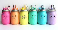 10 super trendy back to school diy ideas that will save you money - hairdresserhairstyles.club - 10 super trendy back to school DIY ideas that will save you money - Diy Tumblr, Jar Crafts, Diy And Crafts, Diy Crayons, Pot A Crayon, Diy Back To School, School School, Savings Planner, Ideias Diy