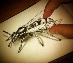 desenho 3d Bee