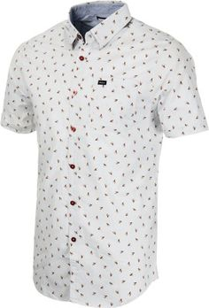 RVCA Avalon S/S Shirt - cement - Mens Clothing  Shirts  Button-Downs  Short Sleeve Button-Downs