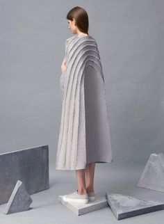 Zita Merényi sears fabric to create fashion collection with scarred seams | IKEA Decoration