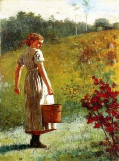 """""""Returning from the Spring"""" by Winslow Homer."""