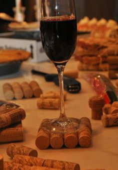 Make Coasters From Old Wine Corks