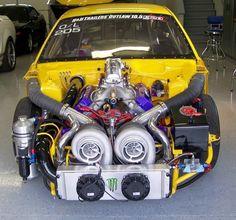 Two turbos. No waiting......