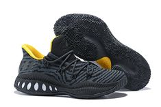 reputable site c6e84 e9e81 Cheap adidas Crazy Explosive Low Black Yellow Basketball Shoes