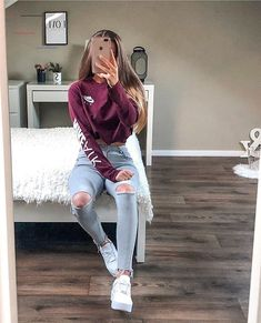 Trendy Fall Outfits, Casual School Outfits, Cute Teen Outfits, Teenage Girl Outfits, Cute Comfy Outfits, Teen Fashion Outfits, Sporty Outfits, Outfits For Teens, Stylish Outfits