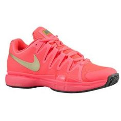 Nike Womens Zoom Vapor 9.5 Tour Tennis Shoes  A favourite of Maria Sharapova, shown here in hot lava, this lightweight, high performing tennis shoe is a must have for the court. They worked for Maria, why not for you?  www.thetennistourist.com