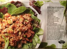 Skinny Thai Lettuce Wraps from the Costco Connection magazine