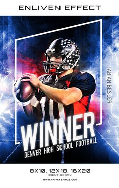 Fabian Denver High School Football Sports Template - Enliven Effects - Photography Photoshop Templates